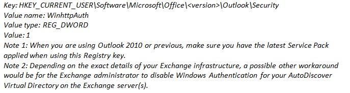 """Resolve Error """"Your Out of Office settings cannot be displayed"""""""